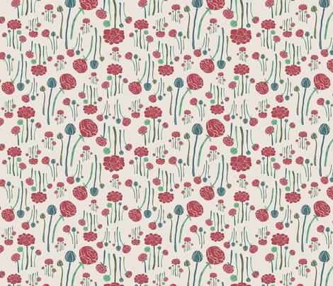 redmagicflower fabric by tina_loeffler on Spoonflower - custom fabric