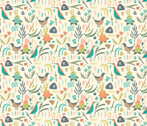 oceanmeadow_main fabric by tina_loeffler on Spoonflower - custom fabric