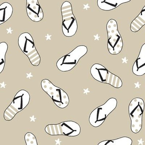flip flop fabric // sandals summer beach sand fabric cute andrea lauren design - sand