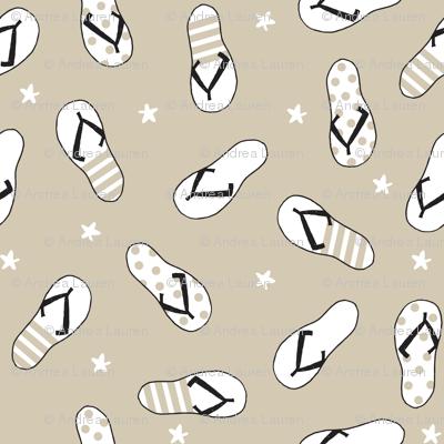 flip flop fabric // sandals summer beach sand fabric cute andrea lauren design - sand