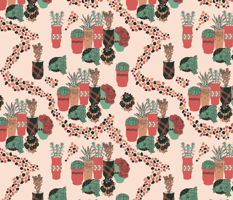 jarrones fabric by marielatresoldi on Spoonflower - custom fabric