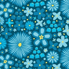 Spring Meadow (Dark Blue)