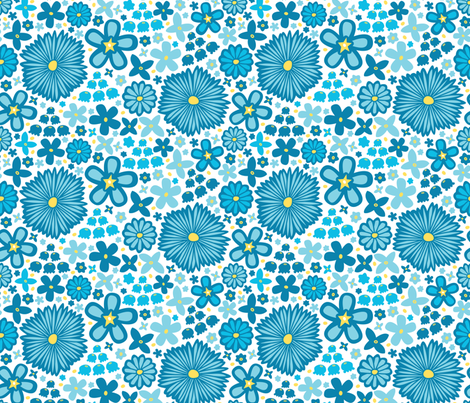Spring Meadow (Light) fabric by robyriker on Spoonflower - custom fabric