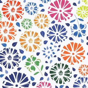 Flower Burst Inspired by Matisse