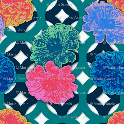 Zinnia Paper Cut Flowers