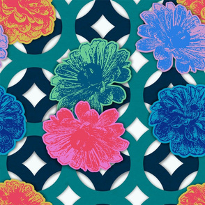 Zinnia Paper Cut Flowers