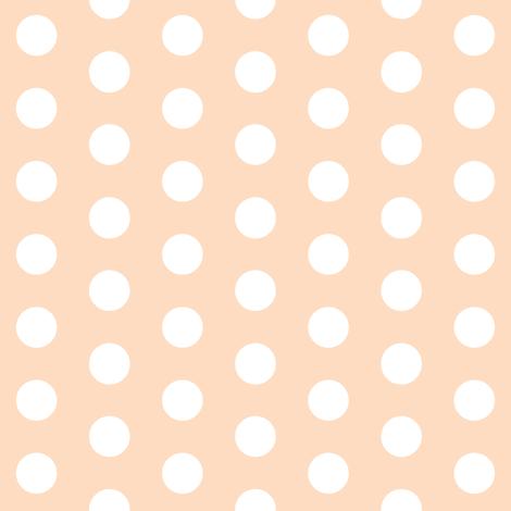 peach dot fabric by hudsondesigncompany on Spoonflower - custom fabric