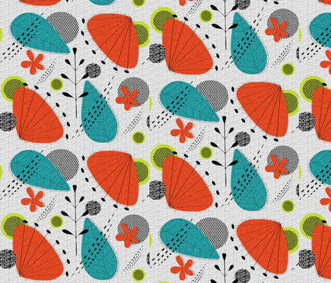 Mid - Century Mash-Up fabric by vanillabeandesigns on Spoonflower - custom fabric