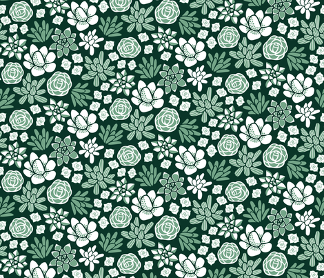 Succulence fabric by dearchickie on Spoonflower - custom fabric