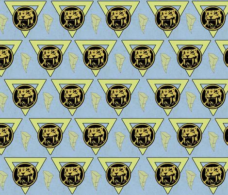 Yellow Ranger of Power fabric by lanrete58 on Spoonflower - custom fabric