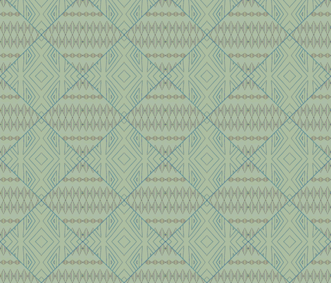 sage diamond mud cloth fabric by twigsandblossoms on Spoonflower - custom fabric