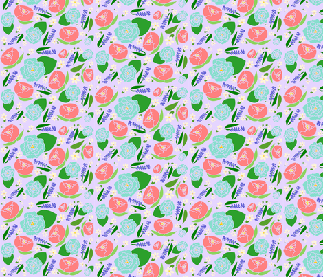 Springtime Florals fabric by flowerfossil on Spoonflower - custom fabric