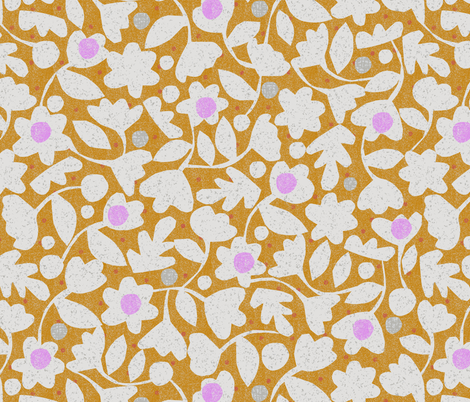 spring flowers-cut paper fabric by ottomanbrim on Spoonflower - custom fabric