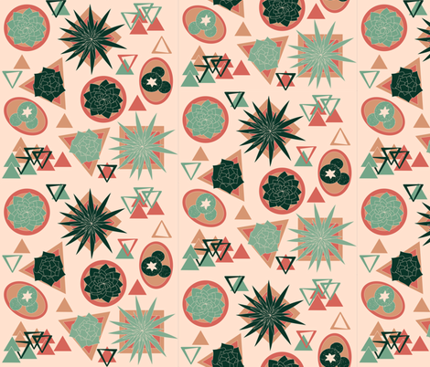 Succulents1 fabric by flowerfossil on Spoonflower - custom fabric