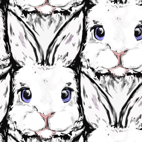 White Rabbits fabric by eclectic_house on Spoonflower - custom fabric