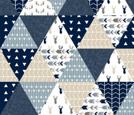 triangle wholecloth quilt top - the rustic woods collection fabric by littlearrowdesign on Spoonflower - custom fabric