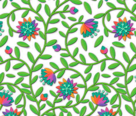 flower-paper-scissors fabric by analinea on Spoonflower - custom fabric