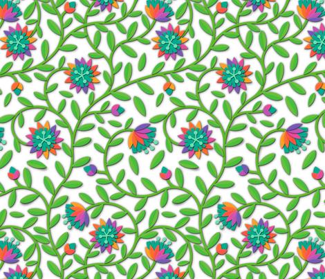 flower-paper-scissors fabric by analinea on Spoonflower - custom fabric