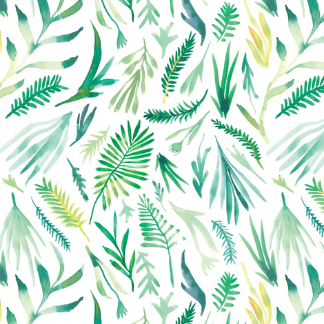 Verdant Ferns fabric by lee_bee on Spoonflower - custom fabric