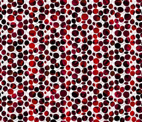 Round red leaves fabric by grafite on Spoonflower - custom fabric