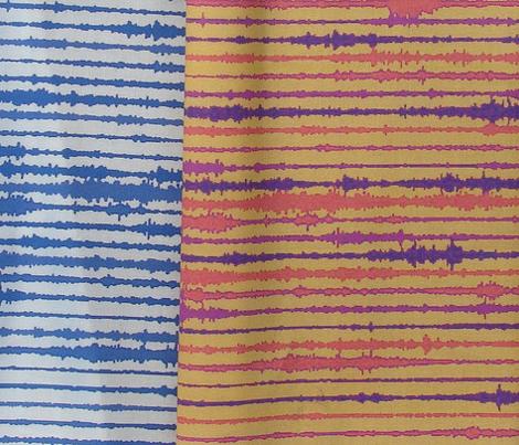 Seismic Shibori - indigo, white