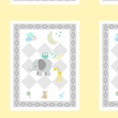 BABY BOY Mint 6x7 - diamond gray soft yellow