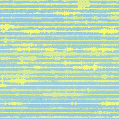Seismic Shibori - yellow,  blue fabric by materialsgirl on Spoonflower - custom fabric