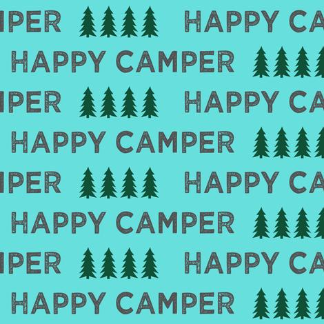 happy camper typography fabric by littlearrowdesign on Spoonflower - custom fabric
