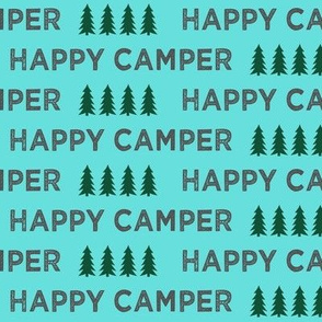 happy camper typography