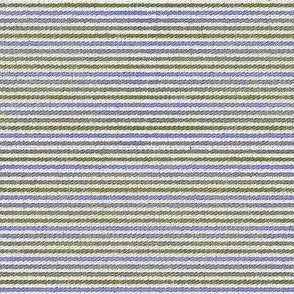 French Linen Petite Stripe - grass & periwinkle