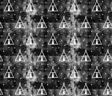 teepee grunge fabric by littlearrowdesign on Spoonflower - custom fabric