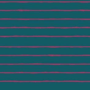 Teal/fuschia stripe