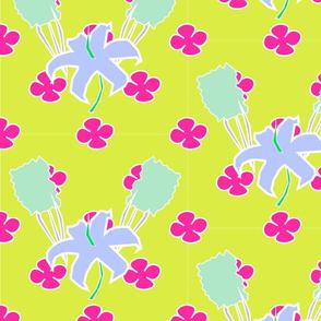 Cutout Floral - Chartreuse Sangria