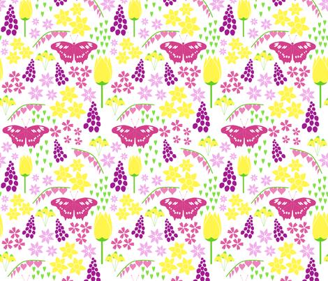 Springtime fabric by alexsan on Spoonflower - custom fabric