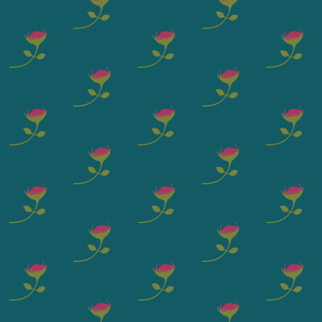 protea - multi teal - medium scale fabric by ali*b on Spoonflower - custom fabric