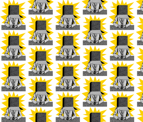 Daily Echoes Newsflash fabric by sarahjaynebird on Spoonflower - custom fabric