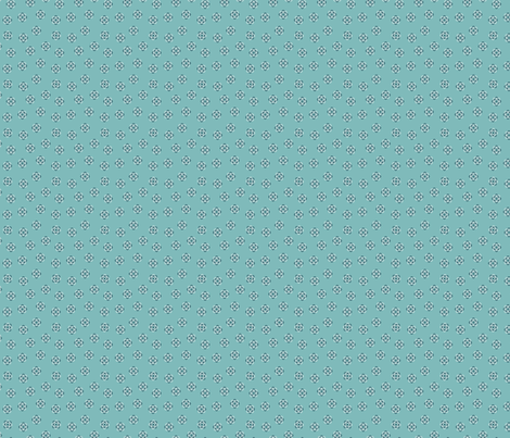 little teal atoms fabric by meissa on Spoonflower - custom fabric