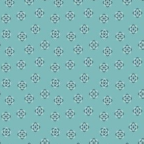 little teal atoms
