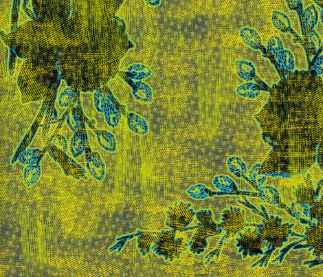 Black Daffodils fabric by susiprint on Spoonflower - custom fabric