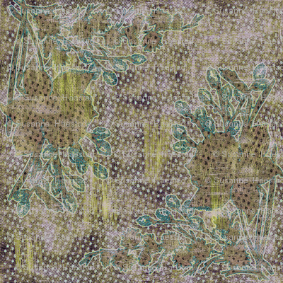 Green textured daffodils