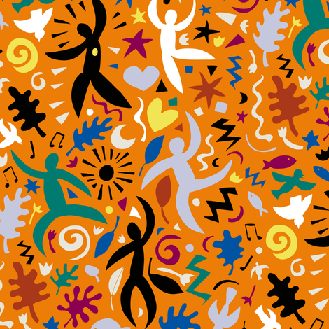 Cuban Salsa - Spice fabric by cecca on Spoonflower - custom fabric
