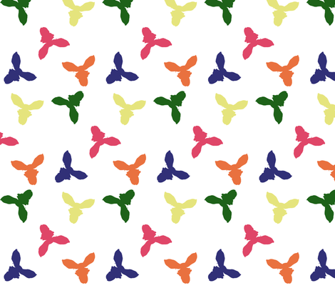 Cut orchids Matisse ish  fabric by pimento on Spoonflower - custom fabric