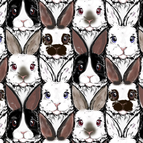 Bunch of Bunnies fabric by eclectic_house on Spoonflower - custom fabric