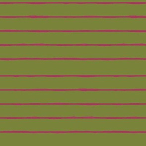 green/fuschia stripe