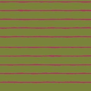 green/fuschia stripe