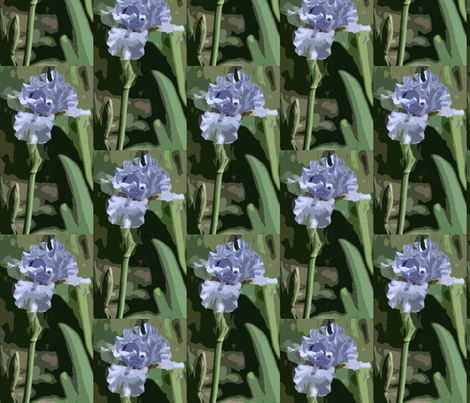 Light_Blue_Iris_pcut_c fabric by barbt on Spoonflower - custom fabric