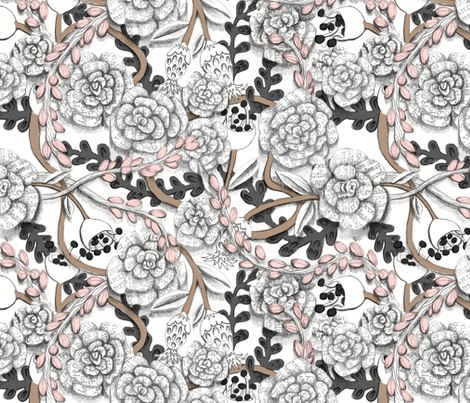 Rose of Prose fabric by graceful on Spoonflower - custom fabric