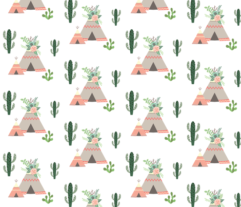 Floral Teepee fabric by matildamoose on Spoonflower - custom fabric