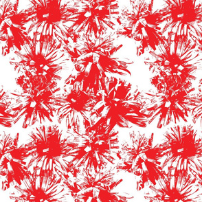 Paper Flowers - Graphic - Red