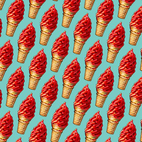 Cherry Ice Cream fabric by kellygilleran on Spoonflower - custom fabric